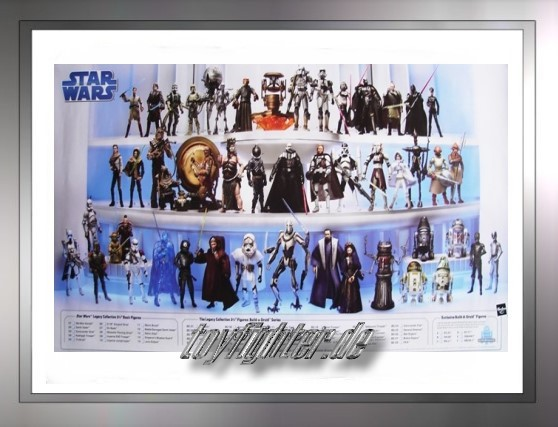 Hasbro Figuren Poster mit allen 2008er The Legacy Collection Fig