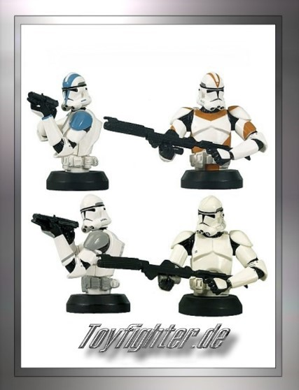 Star Wars Micro Bust-Ups Clone Trooper 4 Pack